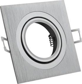 LEDOM Podhľadové bodové svietidlo výklopné Silver