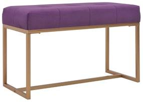 vidaXL Lavička 80 cm fialová zamatová