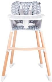 Detská jedálenská rastúca stolička barva: šedá, barevný vzor