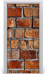 Fototapeta na dvere  tehlová stena
