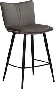 Sivá zamatová barová stolička DAN-FORM Denmark Join