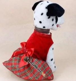 (veľkosť XS: 35/23 cm) Vianočné šaty Rita pre fenky
