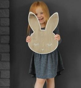 Zrkadlo Spiaci králik - biely drevený podklad