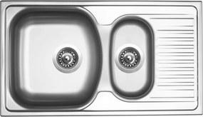 Kuchynský nerezový drez Sinks TWIN 780.1 V matný