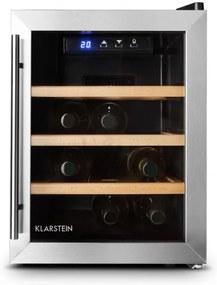 Klarstein Reserva 12 Uno, 33 litrov, chladiaca vinotéka, 12 fliaš, nehrdzavejúca oceľ, LED