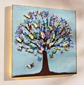 LED obraz Motýlí strom
