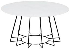 Casia konferenčný stolík biela/čierna