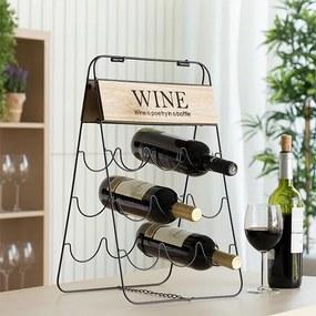 Skladací stojan na víno Poetry (9 fliaš)