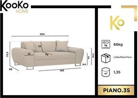 KOOKO HOME Trojmiestna pohovka Piano
