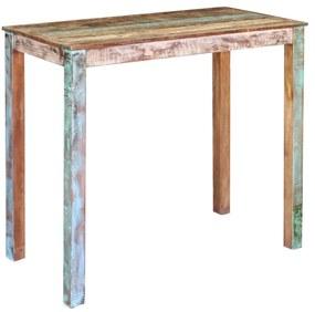 vidaXL Barový stolík z recyklovaného dreva, 115 x 60 x 107 cm