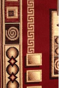 Kusový koberec PP Retine červený, Velikosti 60x110cm