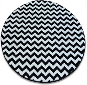 Kusový koberec Nero čiernobiely kruh, Velikosti 140cm