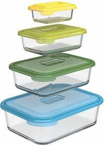 Set 4 sklenených nádobiek na potraviny Joseph Joseph Nest