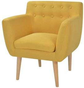 Látkové kreslo, 67x59x77 cm, žlté