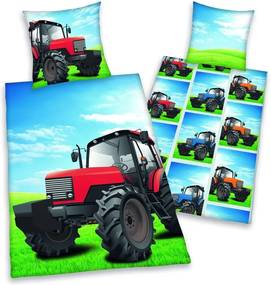 Herding obliečky Traktor 140x200,70x90