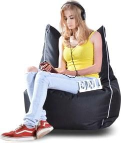 EMI Sedací vak stolička nylonová čierna 250 litrov