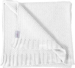 Babymatex Detská deka Tully biela, 80 x 100 cm