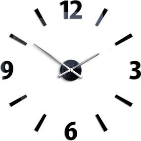 Moderné nástenné hodiny KLAUS BLACK HMCNH061-black