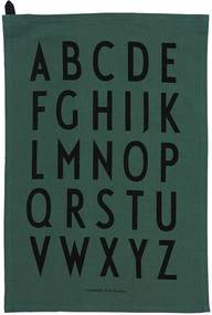 DESIGN LETTERS Dizajnová bavlnená utierka Green set 2 ks