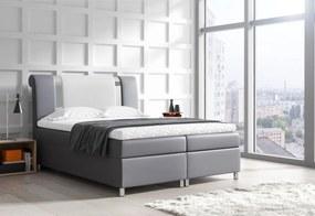 Čalúnená posteľ boxspring MARS + topper, 180x200, madryt 190/madryt 120