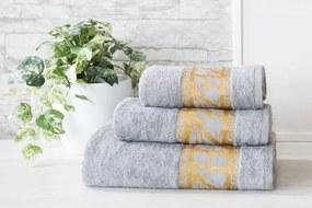 XPOSE ® Bambusový ručník MANILA - světle šedá 50x90 cm