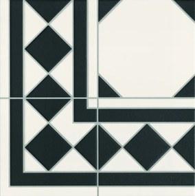 Dlažba Realonda Octagon black roh 33x33 cm mat OCTAGONRBK