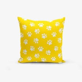 Žltá obliečka na vankúš s prímesou bavlny Minimalist Cushion Covers Yellow Background Pati, 45 × 45 cm