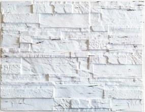Obkladové 3D PVC panely 15, rozmer 440 x 580 mm, ukladaný kameň krémový, IMPOL TRADE