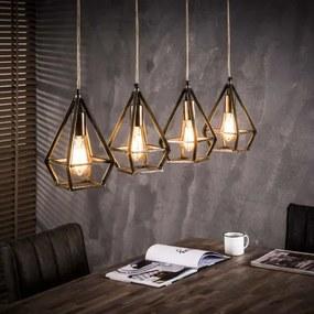 Luster 75-80 4 x Ø16cm Industry-Komfort-nábytok