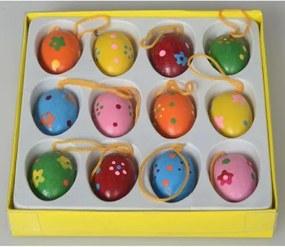 Sada drevených veľkonočných vajíčok, 12 ks
