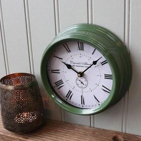 Chic Antique Nástenné hodiny Dark Green