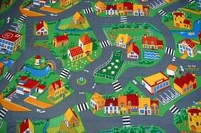 MAXMAX Detský koberec dedinkou soft multicolor