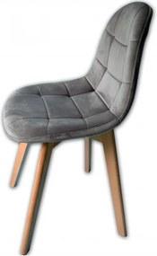DomTextilu Jedálenská čalúnená stolička v škandinávskom štýle 24511