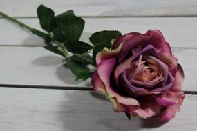 Umelé RUŽE - fialové (v. 75 cm)