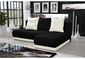 Elegantná sedacia súprava LEONARD, čierna + krémová