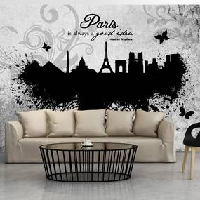 Fototapeta - Paris is always a good idea - black and white 300x210