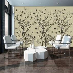 Fototapeta - Vtáky na strome (254x184 cm), 10 ďalších rozmerov