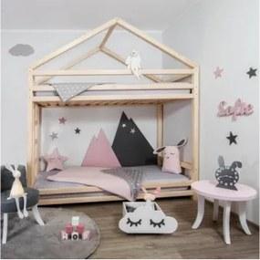 CLOUDY poschodová detská posteľ, Veľkosť 120 x 200 cm, Farba transparentná vosková lazúra matná
