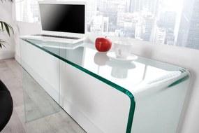 Bighome - Písací stôl UNSEEN 100 cm - číra