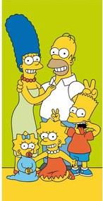 Jerry Fabrics Osuška Simpsons Family, 70 x 140 cm
