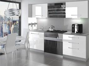 Malá paneláková biela kuchyňa 120 cm Sasanka