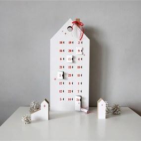 Adventný kalendár s červenými detailmi Unlimited Design for kids