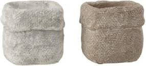 Set 2 betónových kvetináčov Ciment - 10* 10*9 cm