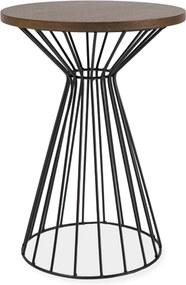 SIGNAL Alta II okrúhly príručný stolík tmavý orech / čierna