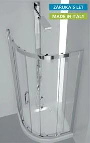 Sprchový kout HOPA FLORA - 96,5 – 100,5 × 96,5 – 100,5 × 190 cm, Hliník chrom, 6mm čiré (BLFL603CC)