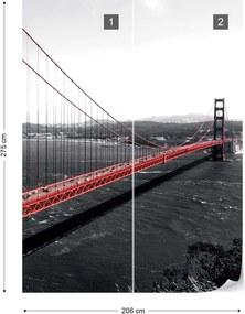 Fototapeta GLIX - City Golden Gate Bridge + lepidlo ZADARMO Vliesová tapeta  - 254x184 cm