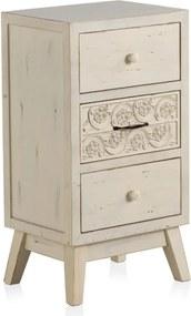 Drevený nočný stolík s 3 zásuvkami Geese Lorelai