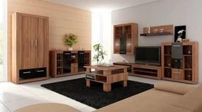 MEBLOCROSS Viki obývacia izba slivka / čierna