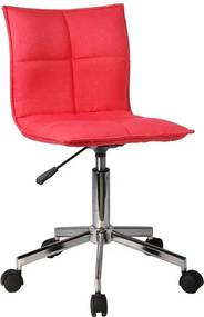 TEMPO KONDELA Craig kancelárska stolička červená / chróm