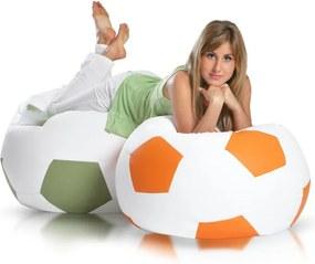 Sedací vak Sport L - Bielo-Oranžový E01/E04